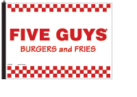 Five Guys Flag - White
