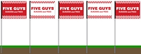 Five Guys Flag - Red Five Pack