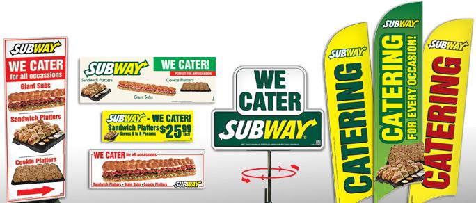 Subway Catering Marketing Materials