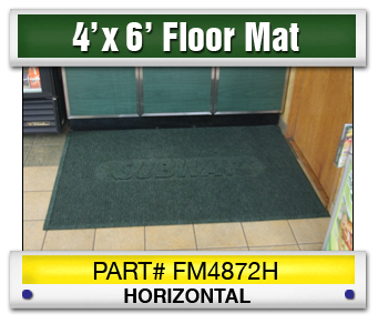3' x 8' Horizontal Floor Mat