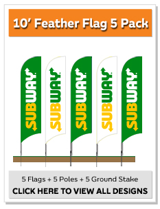 10' Feather Flag 5 Pack Kit