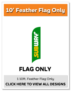 10' Feather Flag (Flag Only)