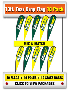 13ft. Tear Drop Flag 10-Pack