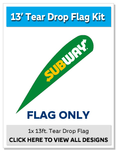 13ft. Tear Drop Flag Only