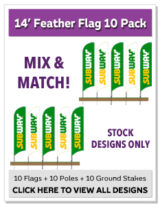 14ft. Feather Flag 10 Pack