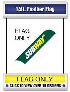 14ft. Feather Flag (flags only)