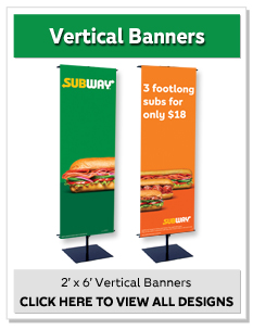 2' x 6' Vertical Banners