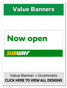 "36"" x 80"" Value Banners"