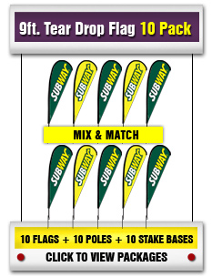 9 ft. Tear Drop Flag 10-Pack