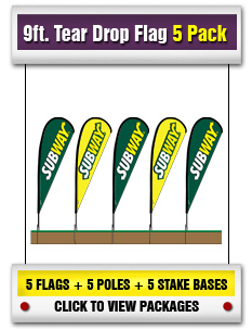 9ft. Tear Drop Flag 5-Pack