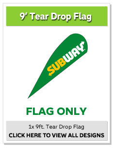 9ft. Tear Drop Flag Only
