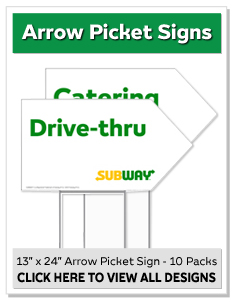 Arrow Picket Signs