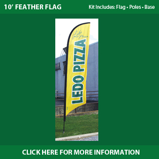 Ledo Pizza - Feather Flags