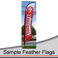 14' Sample Feather Flags