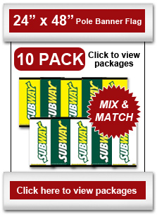 "24"" x 48"" Pole Banner Flag 10-Pack"