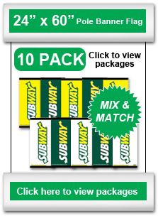 "24"" x 60"" Pole Banner Flag 10-Pack"