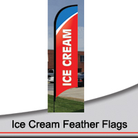 14' Ice Cream Feather Flags