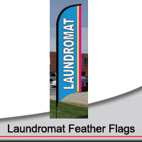 14' Laundromat Feather Flags