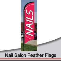 14' Nail Salon Feather Flags