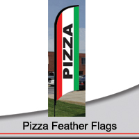 14' Pizza Feather Flags