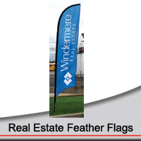 14' Real Estate Feather Flags