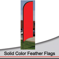 14' Solid Color Feather Flags