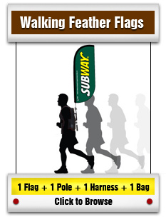 Walking Feather Flag