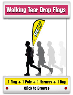 Walking Tear Drop Flag
