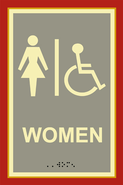 Tuscany Women S Bathroom Restroom Sign With Braille