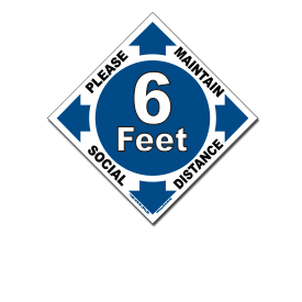Pharmacy Bank Lab Social Distancing Floor Decals-6 Pack 11Round-Timoey Safety Floor Sign Marker 6 Foot Distance Anti Slip Social Distance Floor Decal Sticker for Shopping Mall Grocery