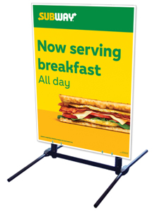 Outdoor Self Standing Sign - Now Serving Breakfast