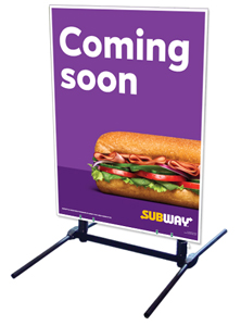 Outdoor Self Standing Sign - Coming Soon