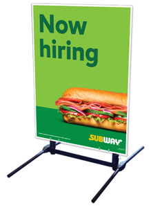 Outdoor Self Standing Sign - Now Hiring