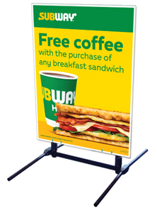Outdoor Self Standing Sign - Free Coffe