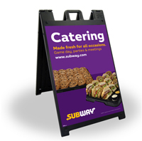 24 x 36 Black A-Frame - Catering