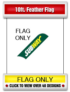 10' Feather Flags (Flags Only)