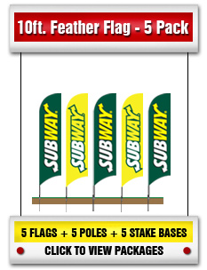 10' Feather Flag 5 Pack