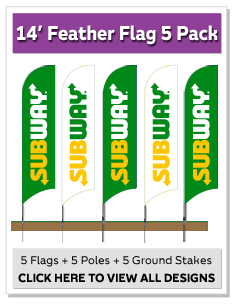 14' Feather Flag 5 Pack