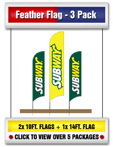 Feather Flag 3 Packs