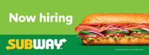 Horizontal Now Hiring Banner
