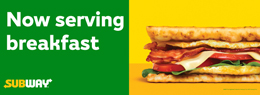 Horizontal Breakfast-Color Banner