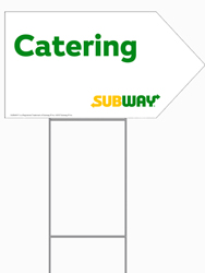 Arrow Picket Sign We Cater